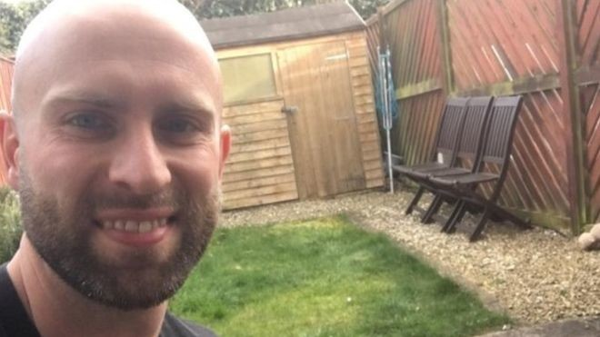 James Campbell, a bored former athlete will be spending his birthday running a marathon in his garden, despite it measuring just 6m (19ft)
