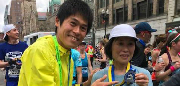 Yuki Kawauchi's mom Mika ran 3:41:52 in Boston just one year after her son won it