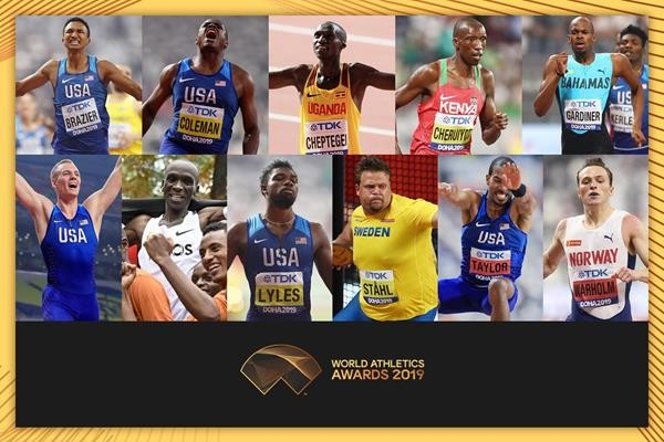 NOMINEES ANNOUNCED FOR MALE WORLD ATHLETE OF THE YEAR 2019