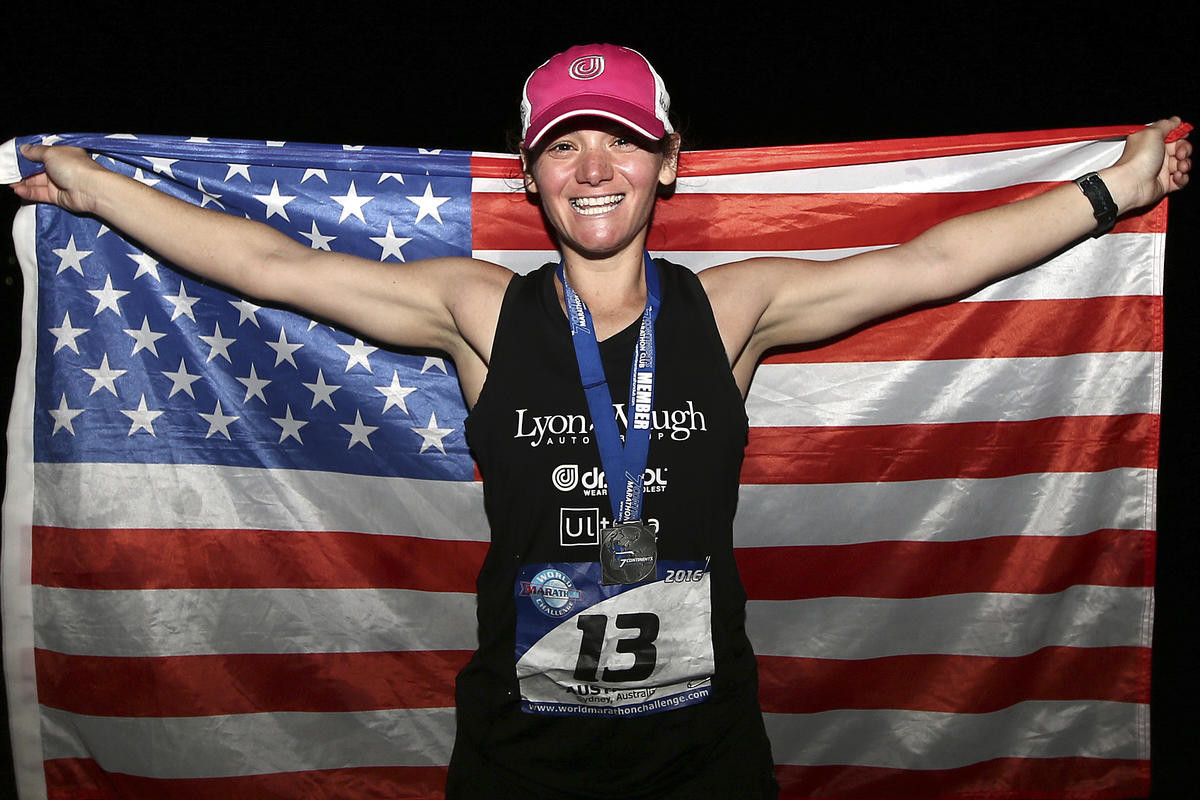 World Record Endurance Marathoner Becca Pizzi will run the Falmouth Road Race
