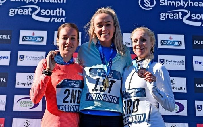 On her debut Eilish McColgan won the  Great South Run