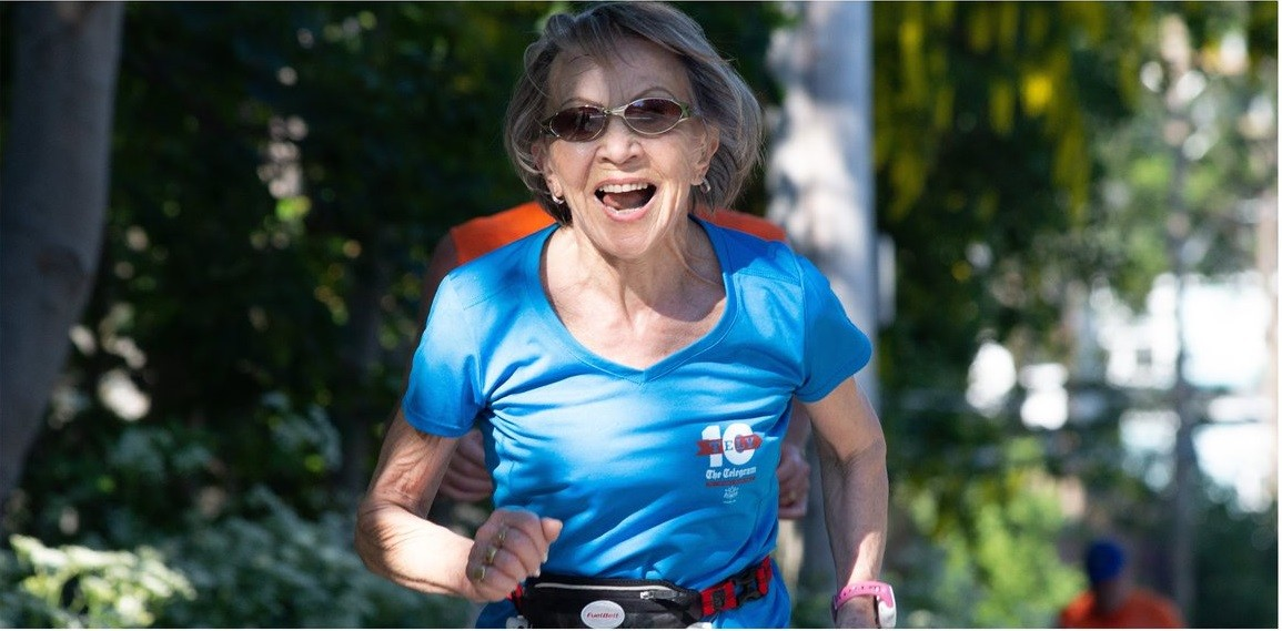 80-year-old Florence Barron sets a record at the Tely 10