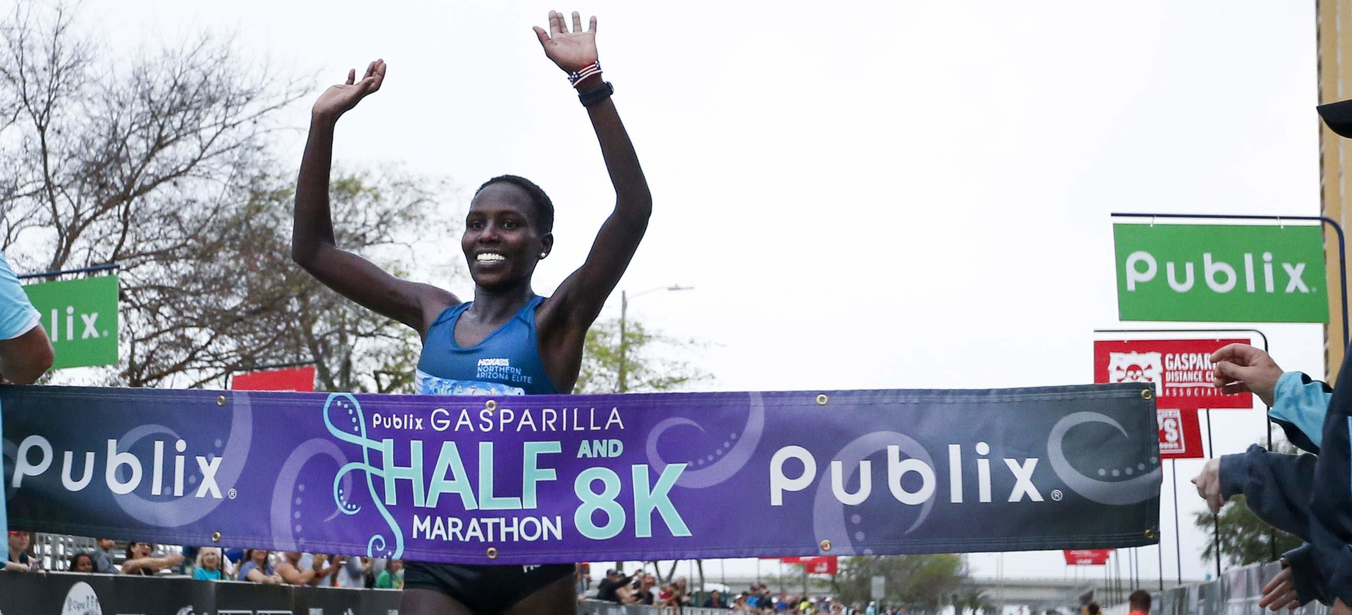 Aliphine Tuliamuk won the Publix Gasparilla Distance Classic by nearly two minutes and always find ways to give back to others
