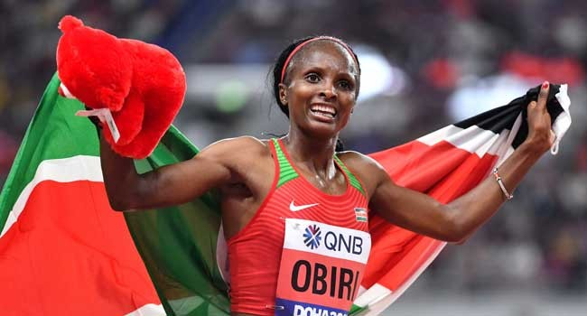 Hellen Obiri will experience the next-best thing when she takes to the start line for the 3000m at the Wanda Diamond League meeting in Doha on Friday