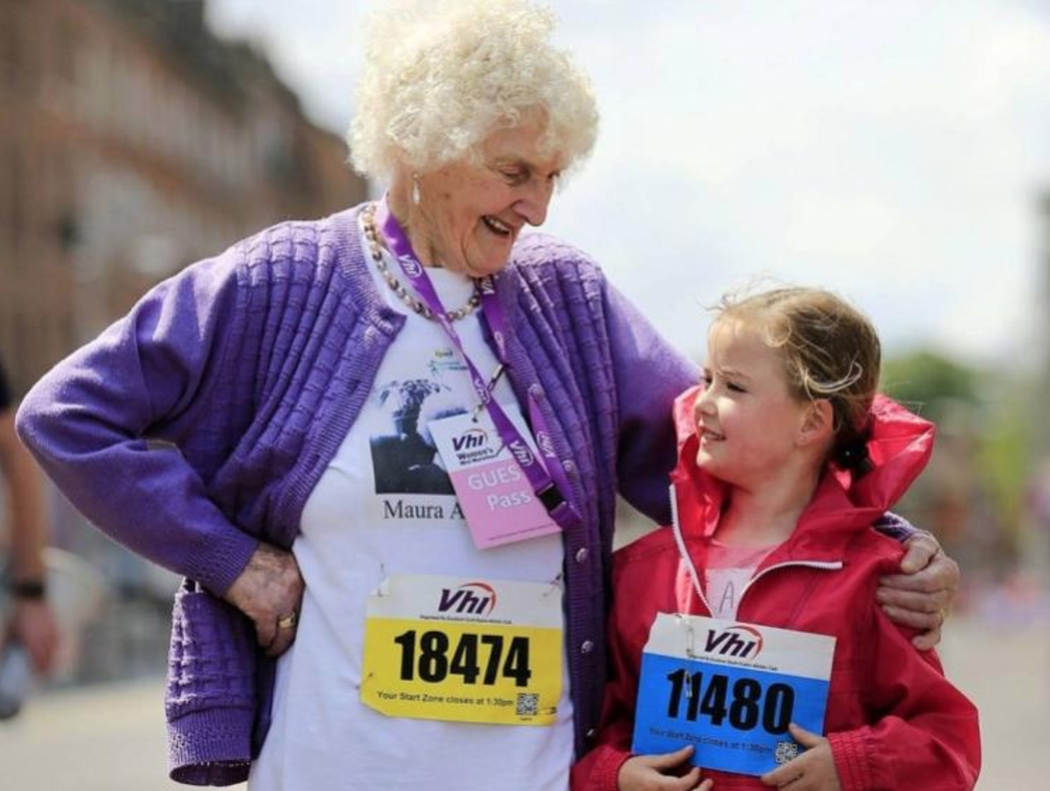 94-years-old Maureen has completed her 25th Marathon