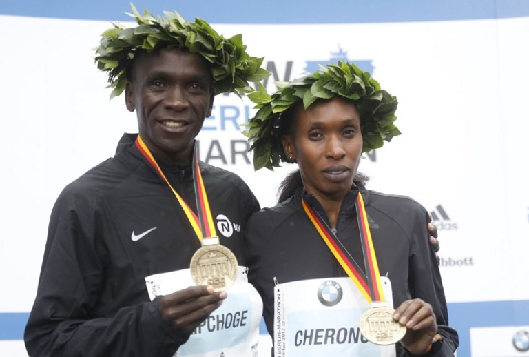 Kenya's Eliud Kipchoge and Gladys Cherono named AIMS Best Marathoners for 2018