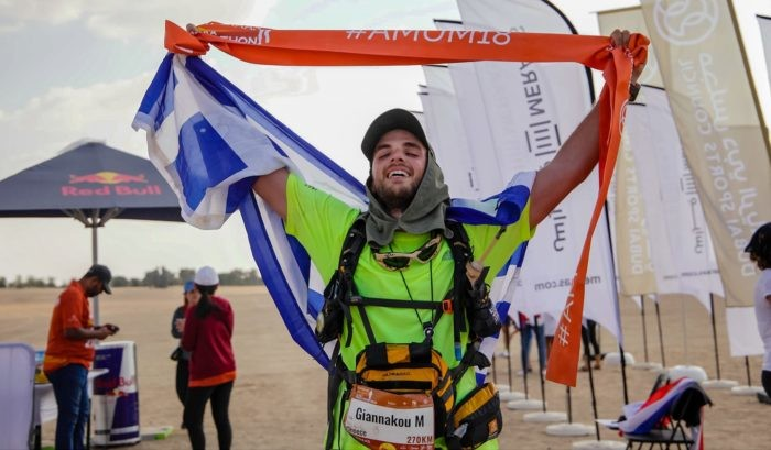 Marios Giannakou from Greece was the youngest finisher in one of the most difficult races in the world at Al Marmoom
