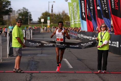 Daniel Mesfun And Caroline Rotich were the winners at The 2019 Humana Rock 'n' Roll Philadelphia Half Marathon
