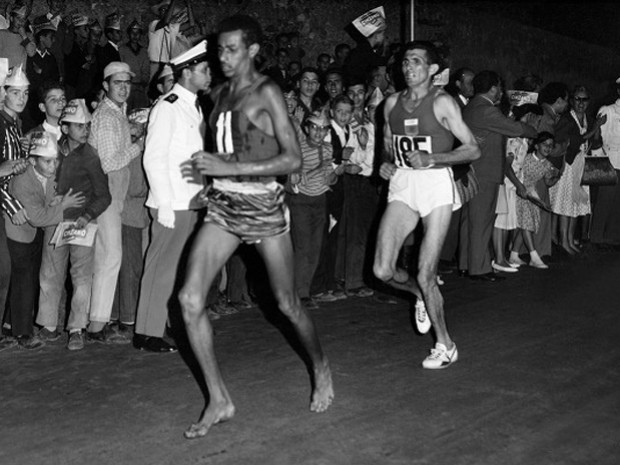 Abebe Bikila had only run two marathons before winning and running a PR by over six minutes in Rome