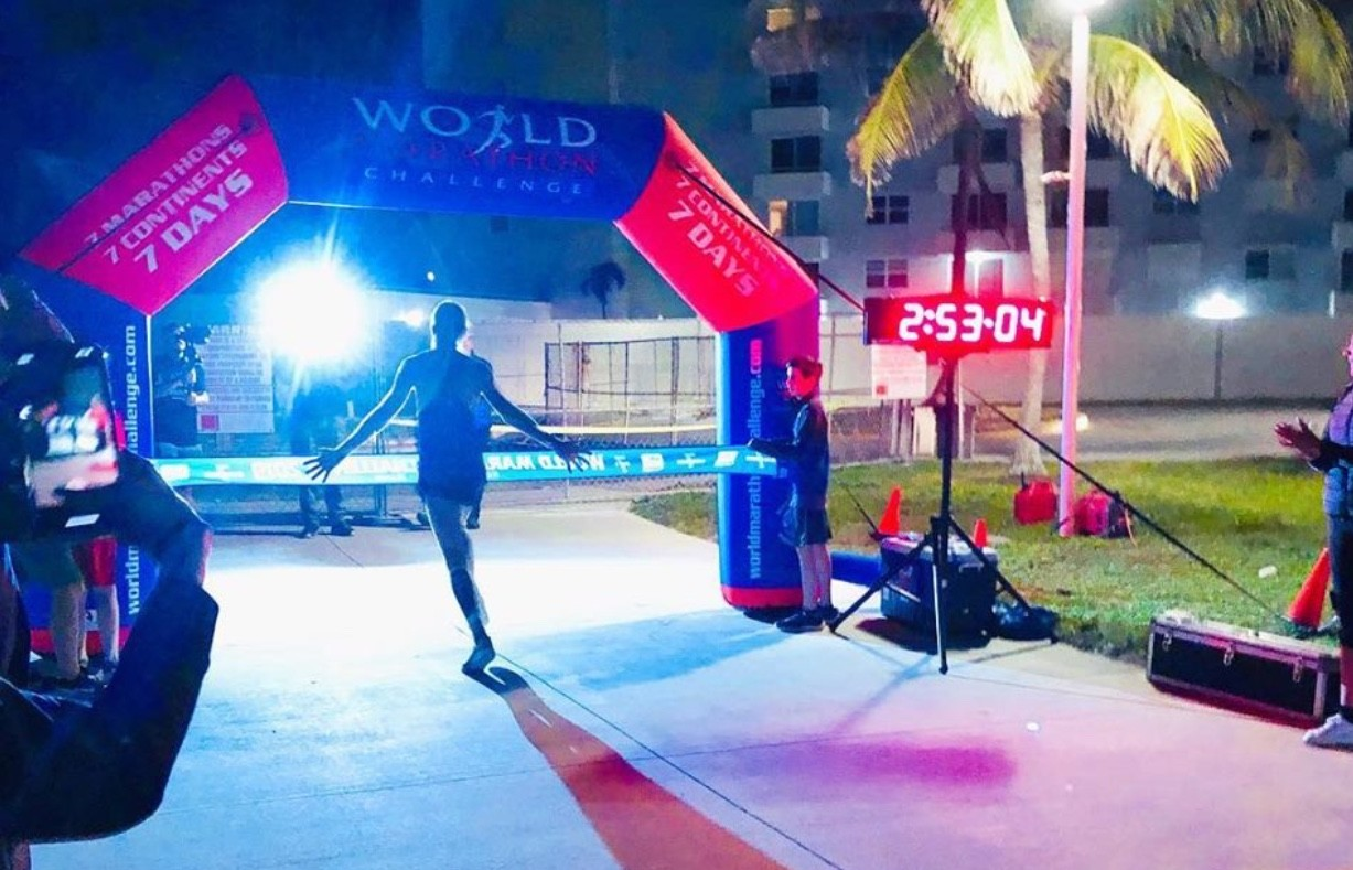Michael Wardian wins the World Marathon Challenge777 for the second time