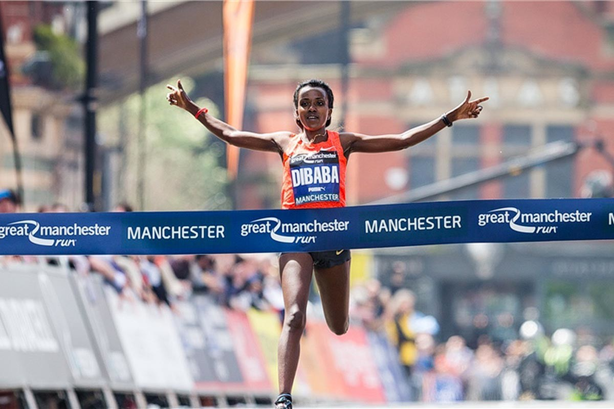 Tirunesh Dibaba had to drop out of the London Marathon but is now ready to defend her title in Manchester