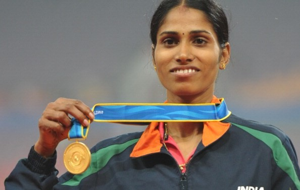 Olympic 3000 meters steeplechase Sudha Singh from India is running the Tata Mumbai Marathon