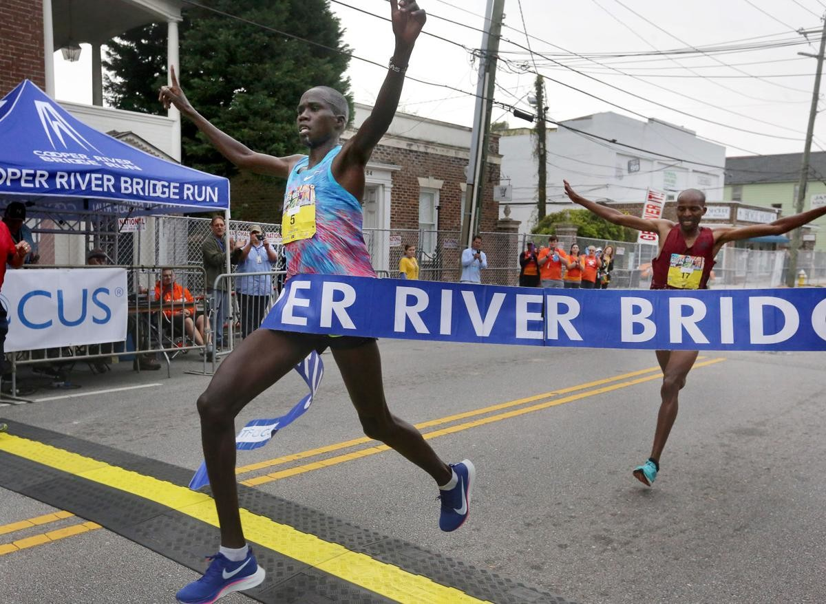 Elite runners Silas Kipruto and Monicah Nigige, both from Kenya, won the 42nd Cooper River Bridge Run