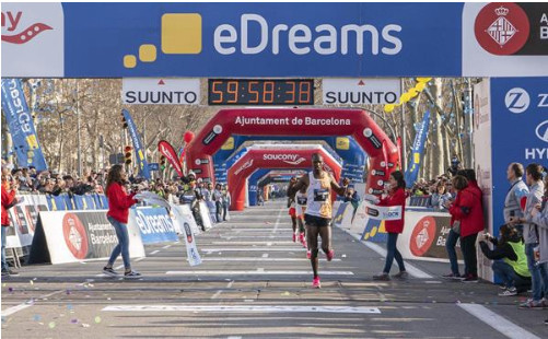Chumo and Bekere take Barcelona half marathon wins