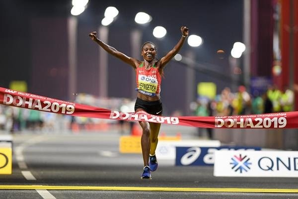 It was very hot even at midnight for the women's marathon at the IAAF world championships in Doha