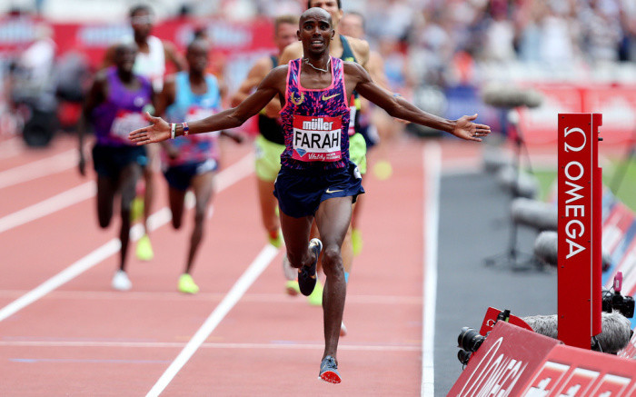 Mo Farah says he is entertaining the idea to return to the track for the 2020 Olympics in Tokyo