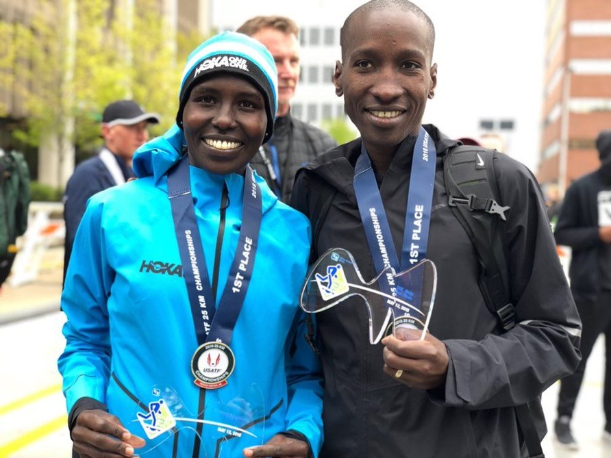 Sam Chelanga won the 41st Annual River Bank Run 25K Saturday