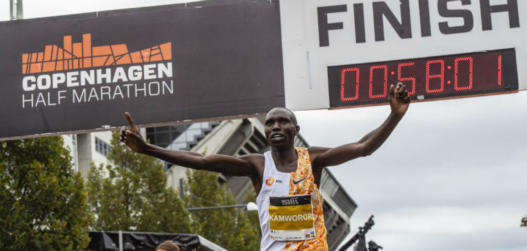 World Half Marathon record holder Geoffrey Kamworor is now eyeing an Olympic medal