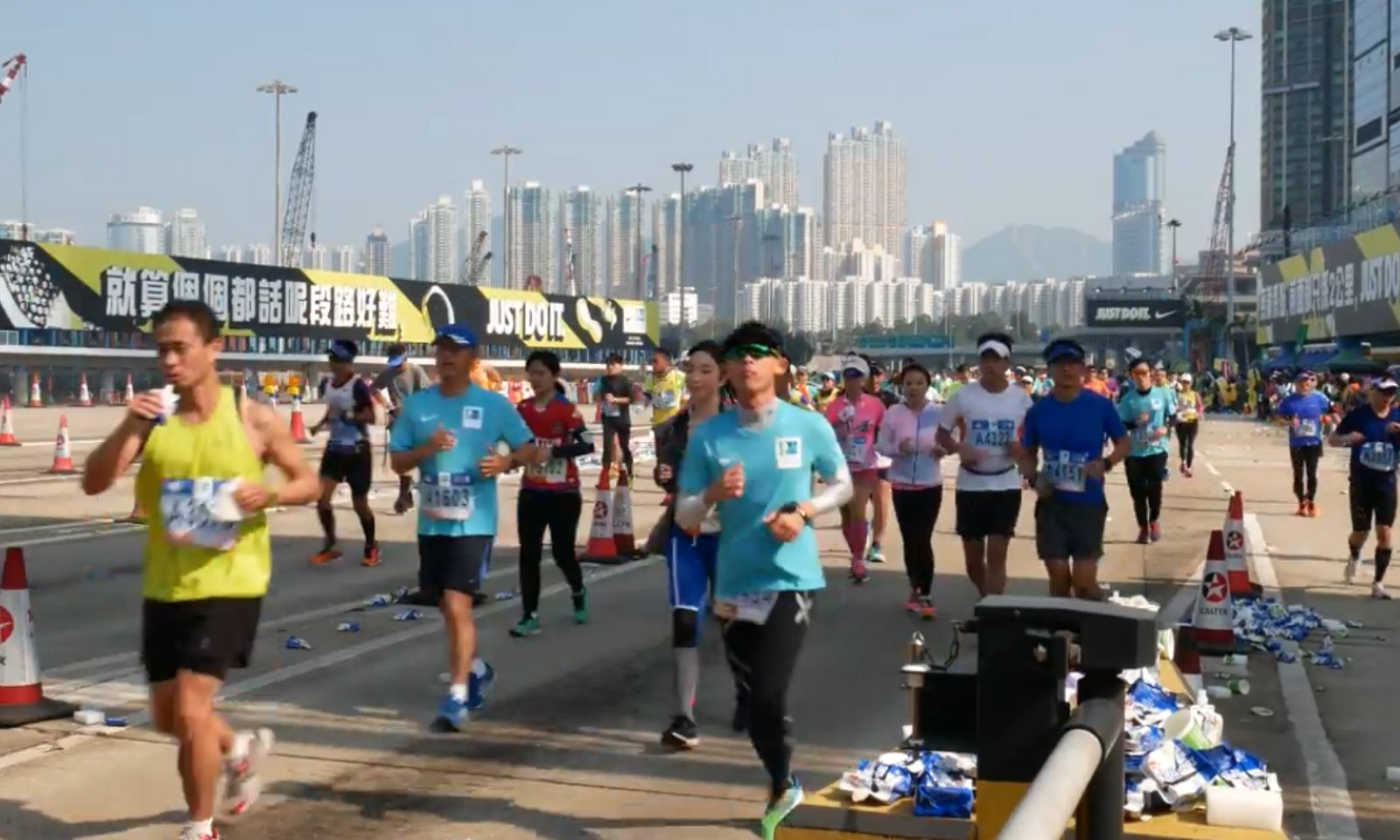 More first aid at the Hong Kong Marathon
