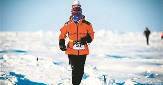 18-year-old Chinese girl was the youngest to finish the North Pole Marathon