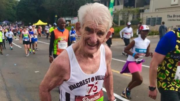 This year 80-year-old Alf Burgess his running his 19th Comrades Marathon