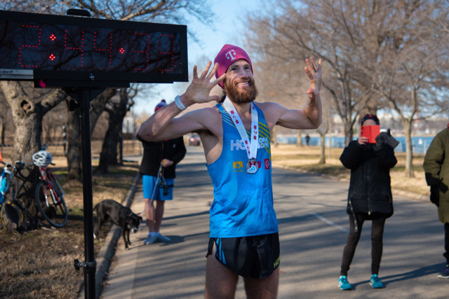 Michael Wardian finished running ten marathons in ten days on Saturday at a 2:55 avg pace and then Sunday ran a 17:01 5k race! Wow!