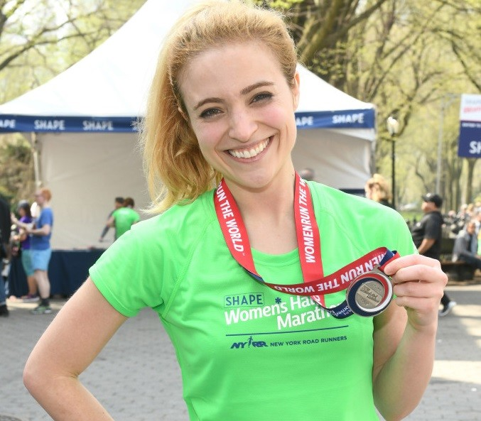 Actress and singer Christy Altomare is training to run her first marathon, New York City
