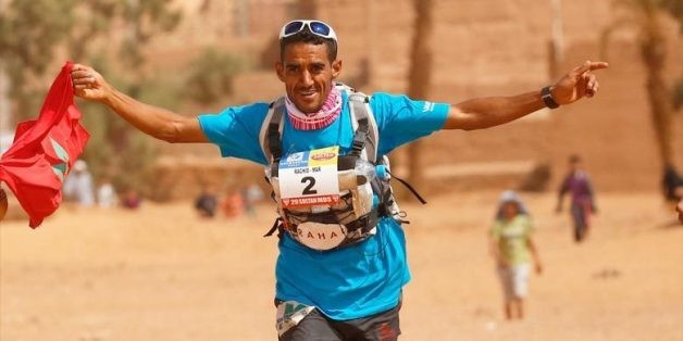 Moroccans won the world's longest desert Al Marmoom ultra marathon in the men's division
