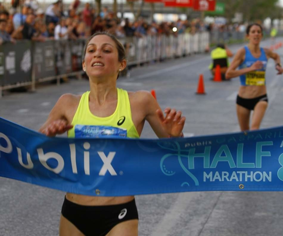 Sara Hall sets course record at Gasparilla half as she gets ready for Boston