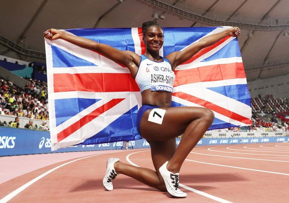 Dina Asher-Smith wins gold in national record of 21.88, at world 200m making history for Great Britain