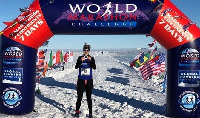 British runner Susannah Gill has won the women's title at the World Marathon Challenge after completing seven marathons in seven days, battling diverse conditions across seven continents