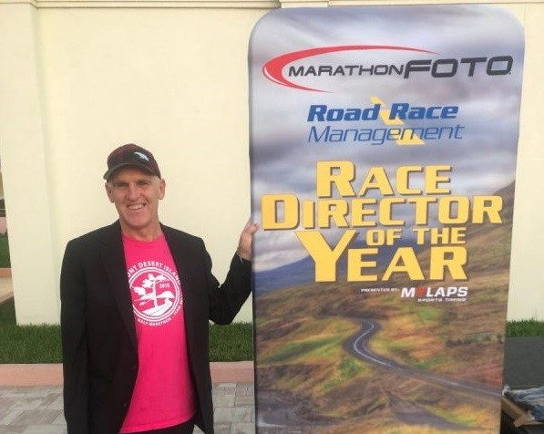 Gary Allen, founder of the Mount Desert Island Marathon and the Millinocket Marathon named race director of the year