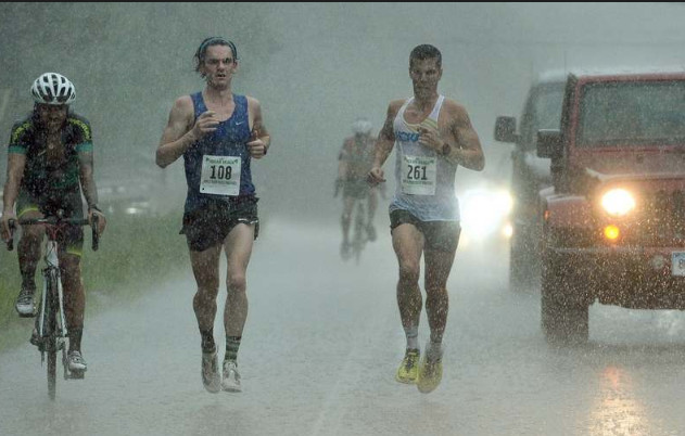 Past all the soggy landmarks of New London and Waterford there was a duo, two runners, two friends keeping pace with one another at Kelley Race debut