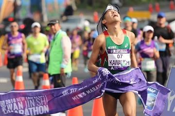 Japan's Yuki Kawauchi is very versatile winning marathons in both Cold and Hot conditions