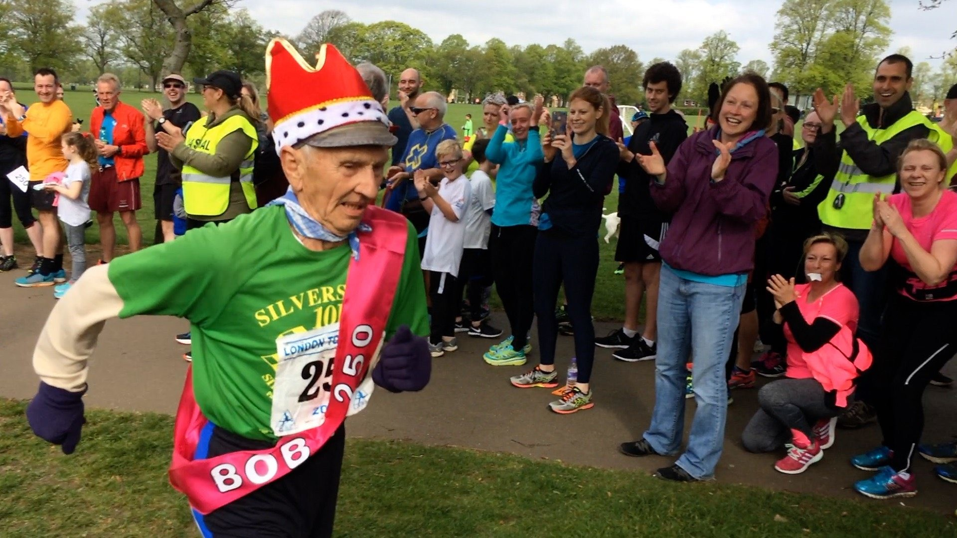 85-year-old Bob Emmerson has run 96 marathons and have logged in more than 110,000 miles