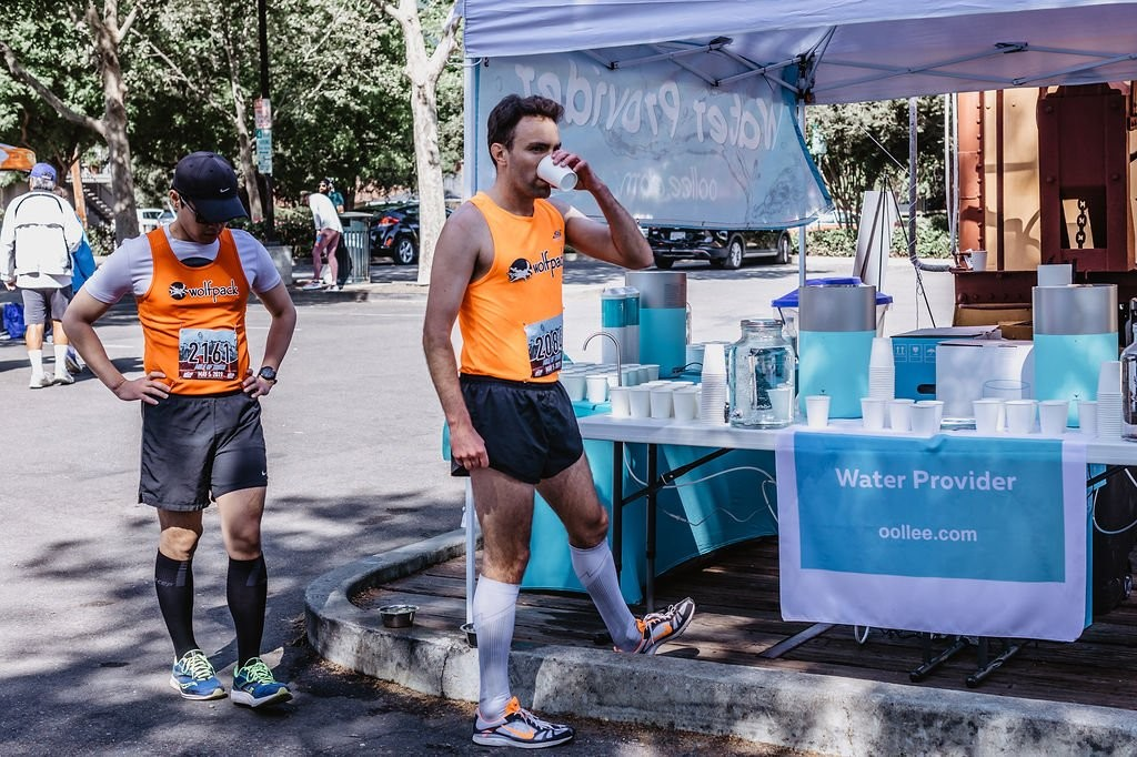 oollee says ditch plastic wáter bottles will be the oficial wáter sponsor for the Golden Gate Double 8K and Golden Gate 10k/5k August 4