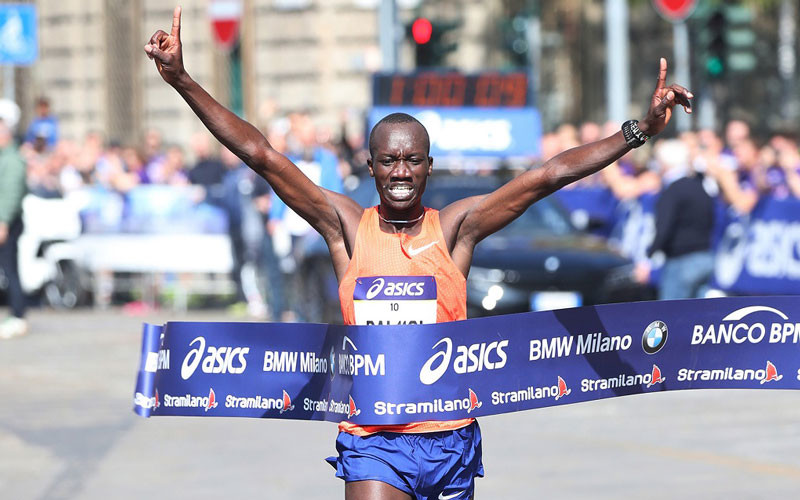 Priscah Jeptoo and Vincent Rerimoi claimed a Kenyan double at the 44th edition of the Stramilano Half Marathon in Milan