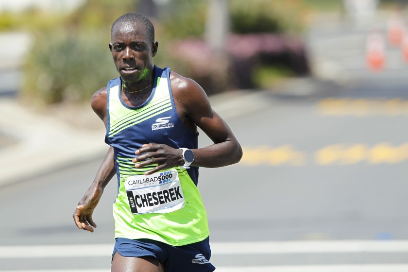 NCAA champion Edward Cheserek equalled the world 5km record of 13:29 when winning the Carlsbad 5000 on Sunday