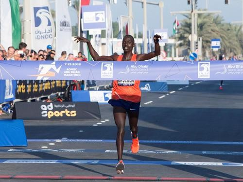 Kenya's Marius Kipserem smashed his PR and won the inaugural ADNOC Abu Dhabi Marathon clocking 2:04:04