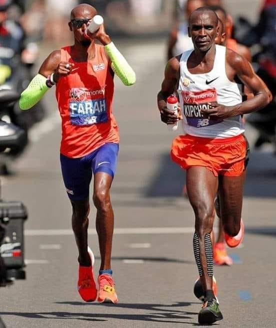 Marathon world record holder, Eliud Kipchoge, says he is relishing the prospect of facing Mo Farah again at london marathon