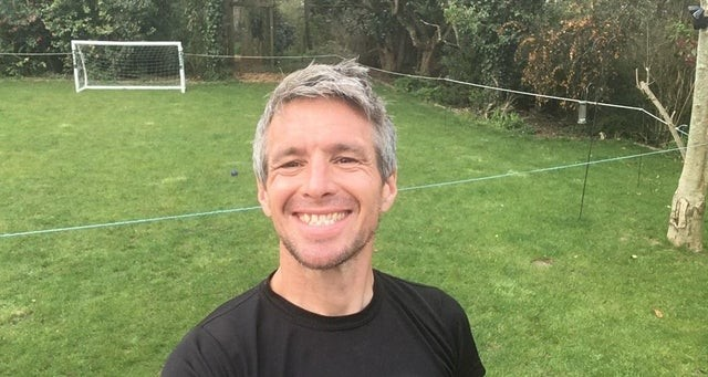 Guy Hudson runs 50k ultra marathon in back garden for Horsham foodbank funds