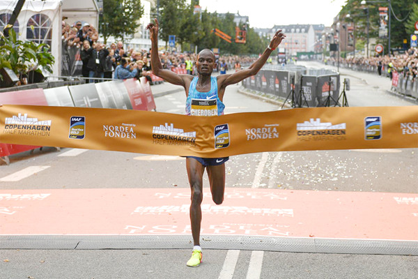 Reigning champion Abraham Cheroben will be leading the copenhagen Half Marathon