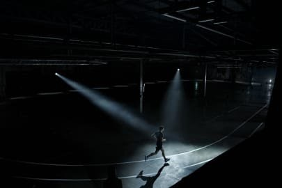 ASICS have unveiled the world's first running track to train the mind, the blackout Track in London