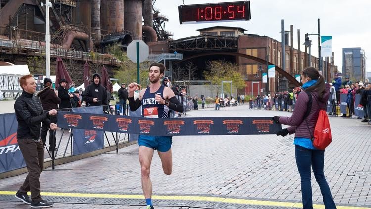 Trevor Van Ackeren won the Runner's World Half Marathon for the second time