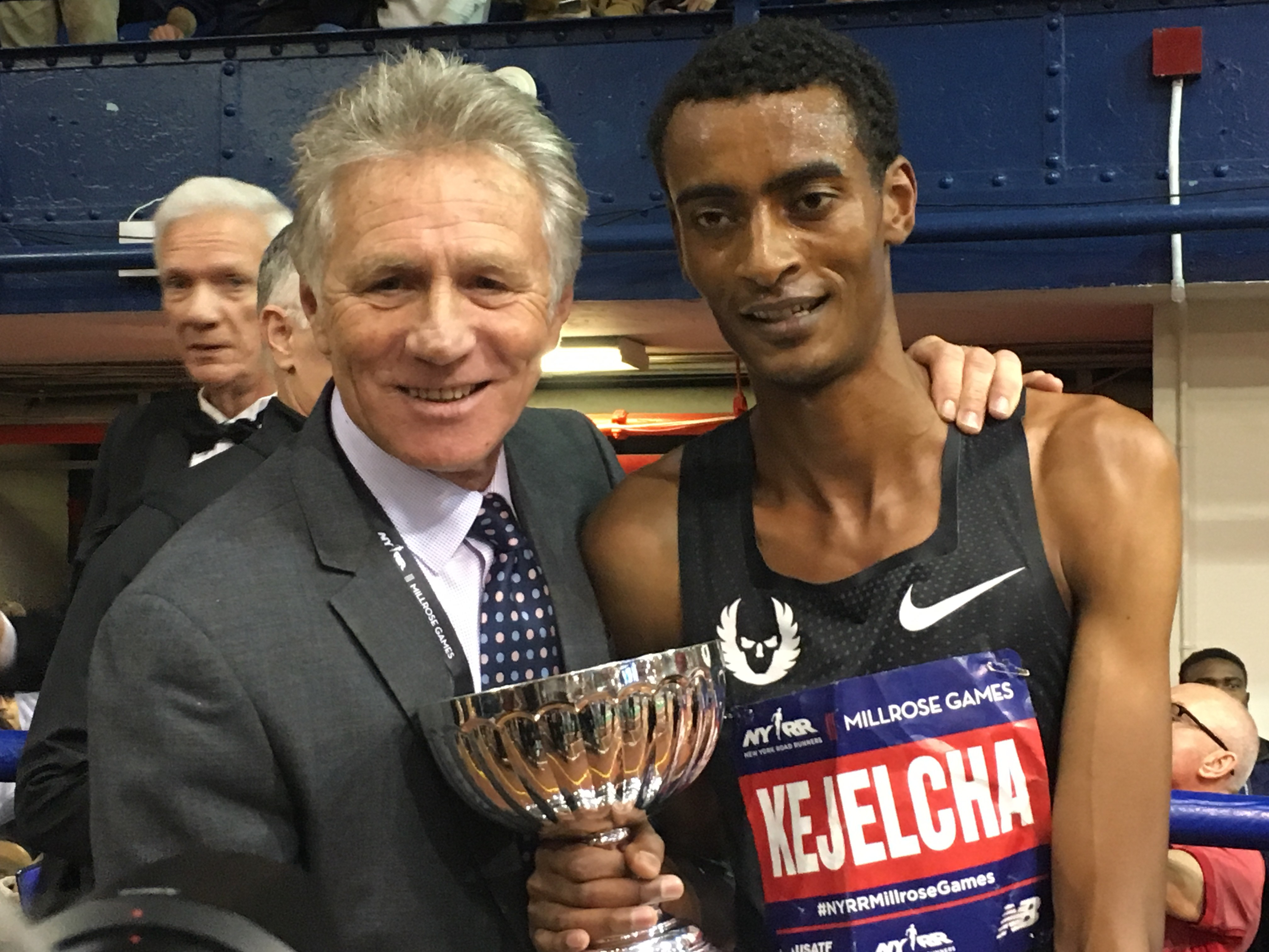 Yomif Kejelcha misses the world record for the indoor mile by one hundredth of a second