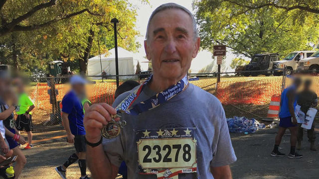 Holocaust survivor says running gives him strength