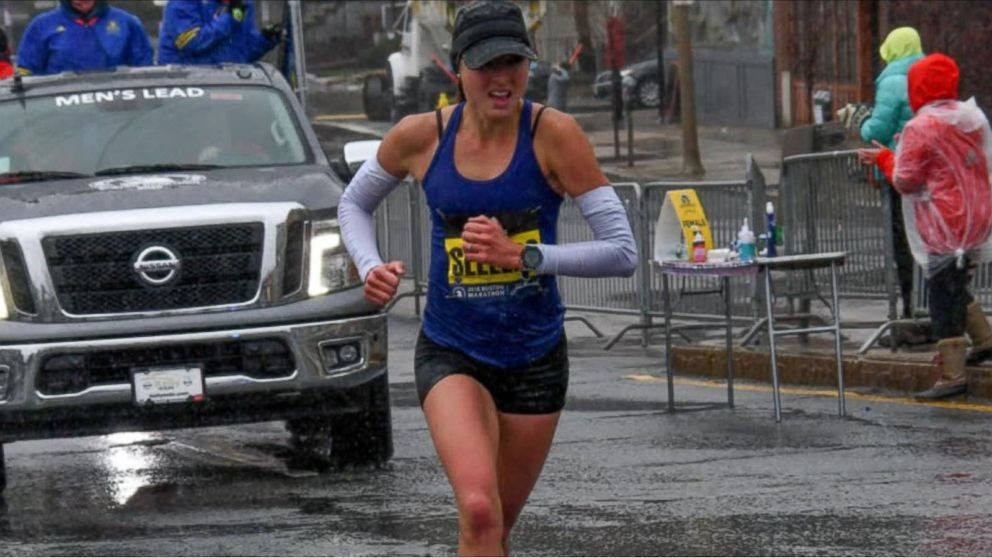 Sara Sellers placed second at the 2018 Boston Marathon and is ready to run it again on Monday