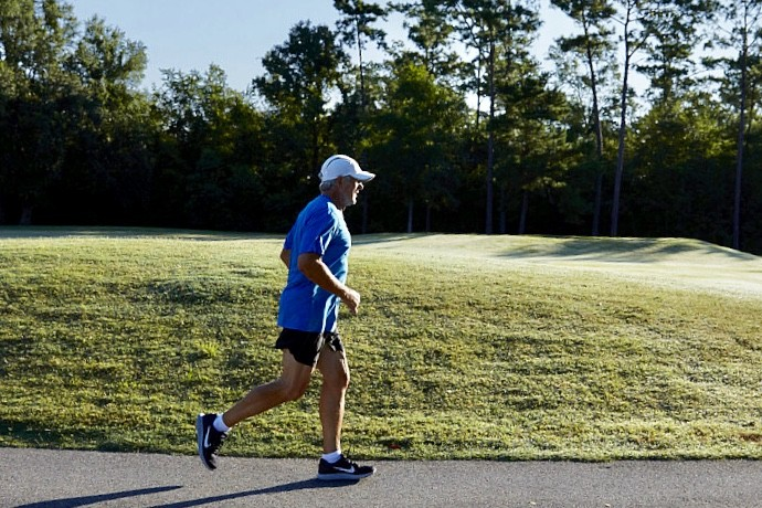 Jim Miller uses a version of fartlek training to keep Running at 70