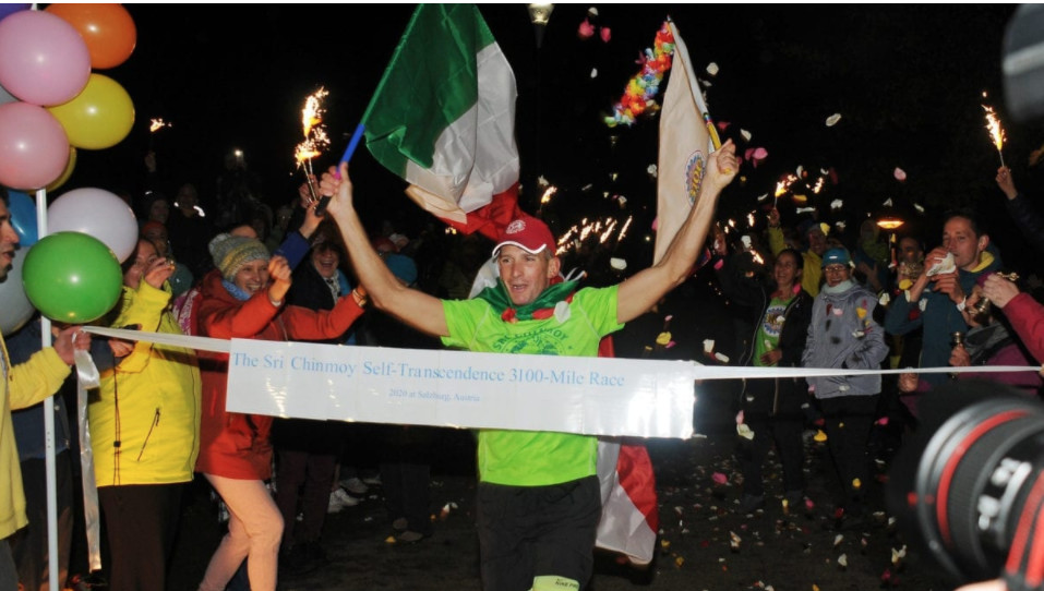 Italian man wins 3,100-mile ultramarathon after 43 days of running