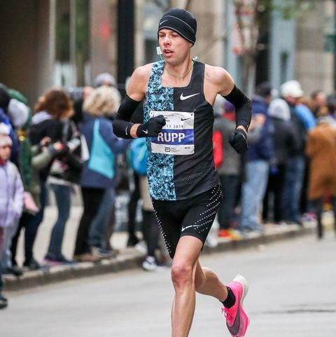 Galen Rupp breezed to victory Saturday in the Sprouts Mesa Half Marathon